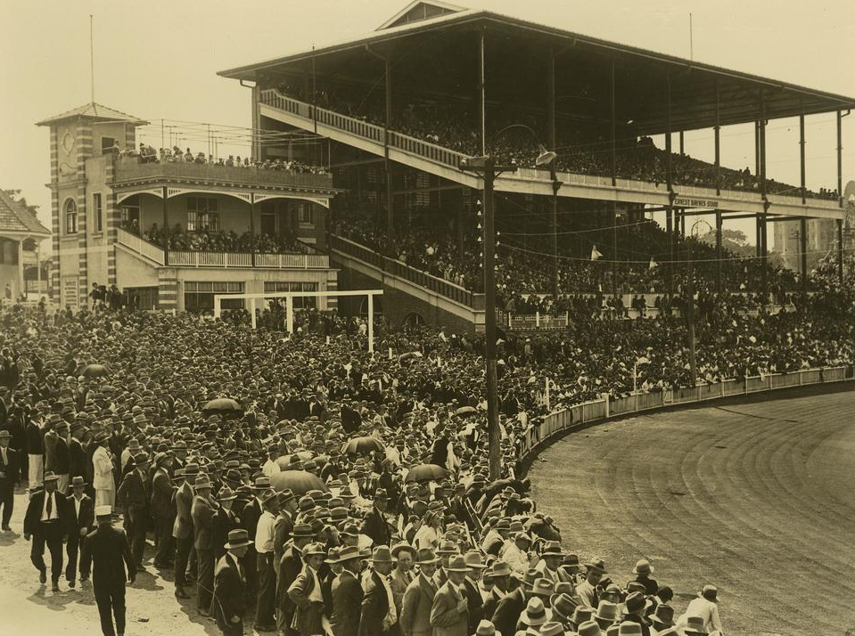 Ernest Baynes Stand at the Exhibition Grounds Brisbane 1928 crop