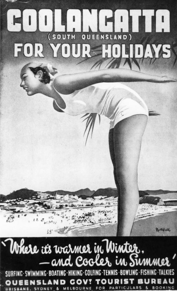 Queensland Government Tourist Bureau travel poster