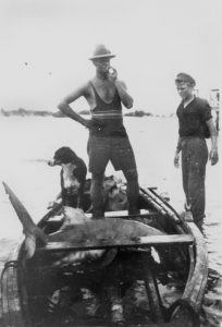 shark-in-boat-maroochydore-ca-1925