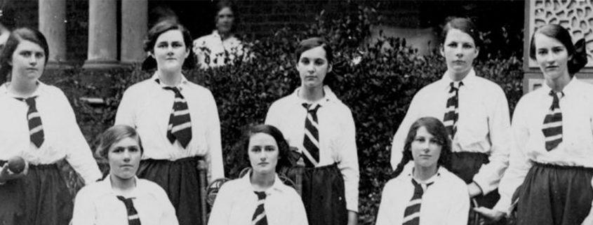Truii data visualisation, analysis and management group portrait of the maryborough girls grammar school cricket team 1915
